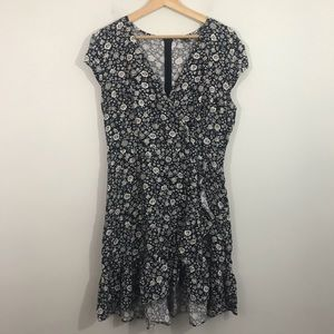 J crew mercantile faux wrap floral dress